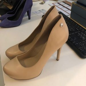 Nude Heel Pumps